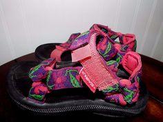 Teva kids Sport sandals Girls size 12, Pink&Purple daisy, fast shipping #Teva #Sandals #Beach