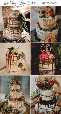 For many brides-to-be knowing how to choose your wedding cake can be very difficult. romantic wedding cake Top 10 Semi-naked Wedding Cakes We've Ever Seen Summer Wedding Cakes, Floral Wedding Cakes, Wedding Cake Rustic, Wedding Cakes With Cupcakes, Wedding Cake Designs, Wedding Cake Toppers, Different Wedding Cakes, Simple Elegant Wedding, Elegant Wedding Cakes