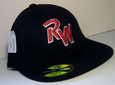6187fa91d15 Ridgewater College Willmar Mn Baseball Hat RW Richardson Cap Flexfit Black  L XL in Sports