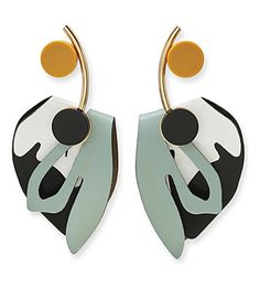 MARNI - Leather and resin clip-on earrings | Selfridges.com