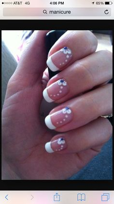 Give your French manicure a unique look by adding different nail art and effects. Take a look at these gorgeous white tip nails designs for inspiration! White Tip Nails, French Manicure Nails, French Manicure Designs, French Tip Nails, Diy Nails, French Pedicure, Manicure Ideas, Colorful French Manicure, Fancy Nails