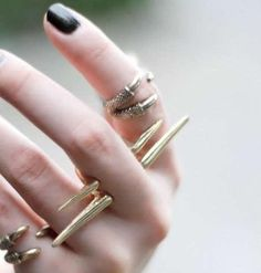 Double Layer Spike Ring, $15.00