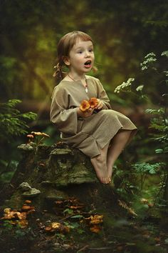 Photo by Natalia Zakonova Love the wonder! perhaps it's Anne of Green Gables as a wee one.
