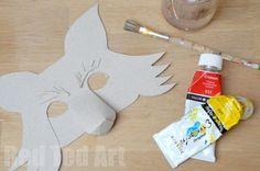 mascara de superzorro para niños disfraz de zorro infantil cejas