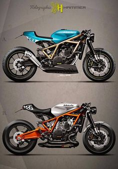 KTM 1190 RC8 Custom Cafe Racer by Holographic Hammer