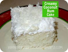 Confessions of a Semi-Domesticated Mama: What's Cookin': Creamy Coconut Rum Cake - this cake looks divine!