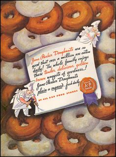 Dying for Chocolate: National Donut Day: Retro Ads & Chocolate Doughnut Recipe