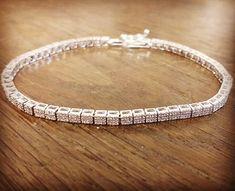 Náramok z bieleho zlata s 228 briliantmi😍💎 #vysperkujtesa #zlato #sperky #brilianty #prenu #vyrobeneslaskou #vianoce #gold #jewelry #forher #madewithlove #xmas Diamond, Bracelets, Silver, Jewelry, Jewlery, Jewerly, Schmuck, Diamonds, Jewels