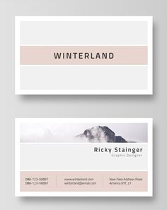 Minimal and Clean Business Card Template