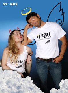 """Cas and Meg (Misha Collins and Rachel Miner) Rachel Miner's """"Be the Clarence"""" Campaign"""
