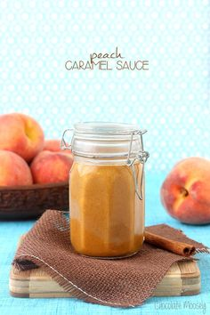 Peach Caramel Sauce turns peaches into one delicious, sweet sauce. This would be awesome drizzled over a peach pie.ala mode if you're feeling really decadent ; Dessert Dips, Dessert Recipes, Apricot Recipes, Salsa Dulce, Appetizer Dips, Pasta, Relleno, Sweet Tooth, Sweet Treats