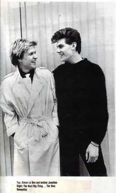 Simon Le Bon With His Brother Jonathon - Duran Duran Forever