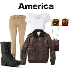 """""""America from Hetalia"""" by animeinspirations on Polyvore"""