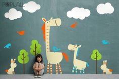 Children Wall Decal Sticker- Horse wall decal with Growth Charts wall decals- 038 Source by etsy Horse Wall Decals, Nursery Wall Decals, Wall Decal Sticker, Wall Murals, Wall Stickers, Modern Kids Decor, Kids Wall Decor, Room Decor, Baby Horses
