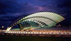 Santiago Calatrava Valls, Lyon Airport Railway Station, 1989-94  Satalas, Lyon, France