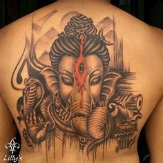 Leading Tattoo Magazine & Database, Featuring best tattoo Designs & Ideas from around the world. At TattooViral we connects the worlds best tattoo artists and fans to find the Best Tattoo Designs, Quotes, Inspirations and Ideas for women, men and couples. Hanuman Tattoo, Ganesh Tattoo, Hindu Tattoos, Red Tattoos, Body Art Tattoos, Tatoos, Shiva Tattoo Design, Type Tattoo, Colour Tattoo
