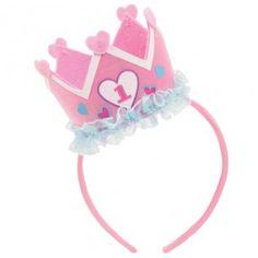 1st Birthday Girl Crown Headband - Truly Scrumptious - 1st Birthday Themes - Baby Party