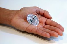 118.28-carat D-flawless diamond fetched $30.6 million at Sotheby's Hong Kong Magnificent Jewels sale, largest oval D-flawless diamond in the world as graded by the Gemological Institute of America.