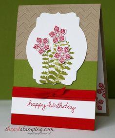 Quick, easy and calming.  #cardsofinstagram #handmadecards  #cardmaking #stampinup #iheartstamping #birthdaycard