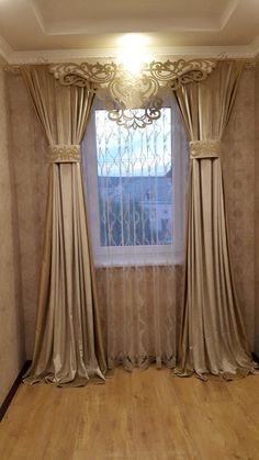 Bedroom Curtain Ideas (For Master, Small, and Children Bedroom) bedroom Luxury Curtains, Elegant Curtains, Home Curtains, Curtains Living, Modern Curtains, Curtains With Blinds, Tall Curtains, Valances, Window Curtains