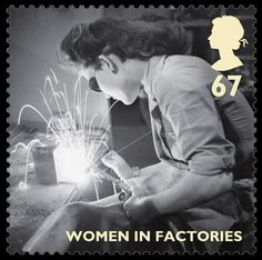 Royal Mail World War II Stamps - 'Women in Factories' stamp