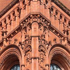 Terracotta facade of the Pierhead Building Cardiff Bay. Architect: William Frame. #ukcoastwalk Photo: Quintin Lake www.theperimeter.uk