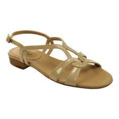Women's VANELi Benes Sandal Ecru Patent (US Women's S (Narrow))