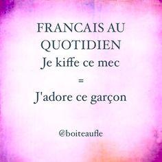 Kiffer quelque chose ou quelqu'un #boiteaufle #françaisauquotidien #jadorelefrançais #learningfrench