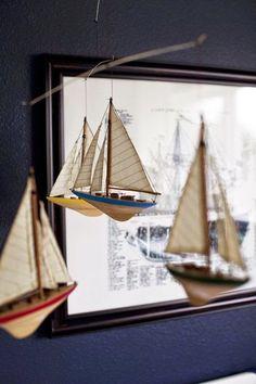Americas Cup Mobile Miniature Sailboat Models