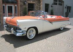 1956 Ford Fairlane Sunliner Convertible with Spats. Ford Fairlane, Car Ford, Ford Trucks, Auto Ford, 4x4 Trucks, Chevrolet Trucks, Diesel Trucks, Chevrolet Impala, Lifted Trucks