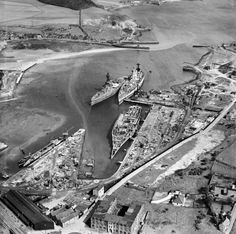 Thomas Ward and Sons Shipbreaking Yard, Inverkeithing, Scotland in Seen here: HMS Nelson, HMS Rodney and HMS Royal Sovereign meet their end. A crime if you ask me. Naval History, Military History, Hms Hood, Ship Breaking, Photo Mug, Abandoned Ships, Royal Navy, Uk Navy, Historical Monuments