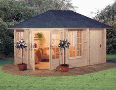corner summerhouse shed room - Google Search