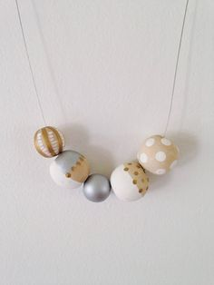Vera | Hand Painted Wooden Bead Necklace