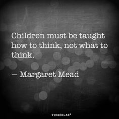 Children must be taught how to think, not what to think. -Margaret Mead I love this quote, don't you? It reminds me of the old tale about how you can lead a horse to water but you can't teach it to drink. Today I'm sharing a short roundup of some of my favorite TinkerLab posts …