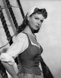 Eva Bartok in The Crimson Pirate (1952)