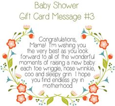 Charming Top 10 Baby Shower Gift Card Message Ideas