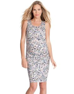 Bring a touch of personality to your new season style with our Sleeveless Bodycon Maternity Dress. Crafted in the softest stretch jersey, this stylish fitted maternity dress is designed to grow with you, offering a flexible fit and a flattering form-fitting silhouette at every stage of pregnancy. The slim sleeveless design is perfect for layering, and dresses up or down for easy everyday style.