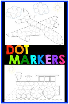 These Do-a-dot marker printables are fun and MESS FREE transportation activities for kids. Toddlers, PreK, and early elementary students LOVE dot markers! They are perfect for improving motor skills and are easy activities for kids. Just PRINT and go. These printable dot marker pages are great for centers and group or independent work stations. #dotmarkers #doadot #printables #dotmarkerprintables #kimheuer