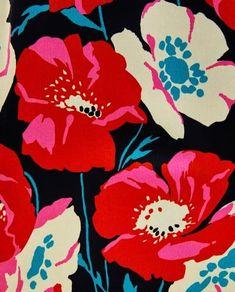 Design Textile, Design Floral, Motif Floral, Textile Prints, Floral Prints, Poppy Pattern, Pattern Art, Plant Illustration, Botanical Illustration