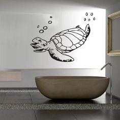 Wall Decal Decor Decals Art Turtle Sea Ocean Animal Swimming Shell Bathroom Water (M627) DecorWallDecals,http://www.amazon.com/dp/B00G7JBYF8/ref=cm_sw_r_pi_dp_6QBIsb0RWJPS1JK4