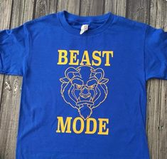 Disney Beast Mode Beauty and the Beast Shirt Source by etsy Look t-shirt