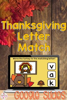 Use these Thanksgiving Alphabet Matching Google Slides to help your students practice letter recognition and upper and lowercase matching! These Google Slides are perfect for distance learning, independent literacy centers, distance learning, and small group instruction. Ideal for PreK and Kindergarten students. #literacycenters #letterrecognition #kindergarten #fallactivities