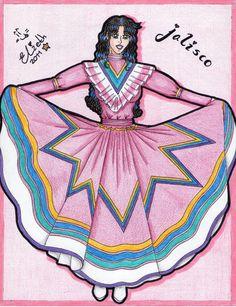 Vestido tipico de jalisco para mujer