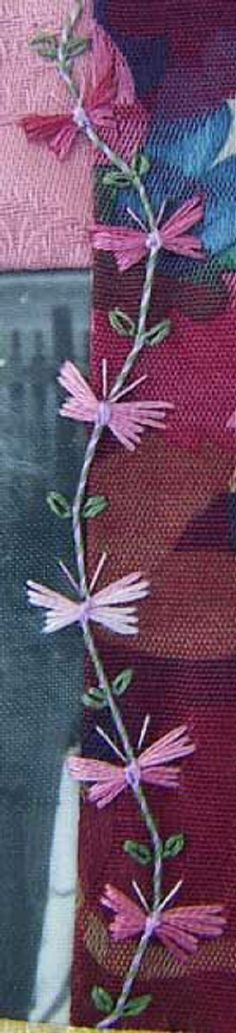 I ❤ embroidery . . . Butterfly chain stitch.