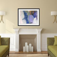 Abstract Framed Wall Art Square 30 v2 Print Artworks and