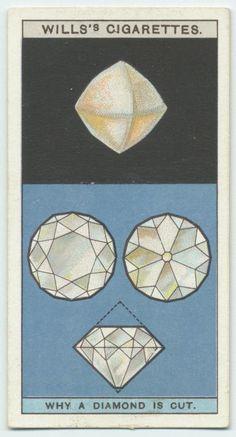 cigarette card 'why a diamond is cut'