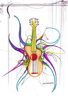 """Title: """"Guitar blown open"""" 