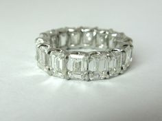 unique custom made anniversary bands | Hand Made Emerald Cut Diamond Eternity Band by The Perfect Setting ...