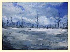 """Original oil on canvas by Amy Botz. """"The Last of Winter"""""""
