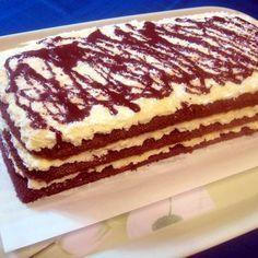 Kókuszkrémes piskótatorta Recept képpel - Mindmegette.hu - Receptek Gourmet Recipes, Dessert Recipes, Gourmet Foods, Tiramisu, Food And Drink, Snacks, Cookies, Baking, Cake